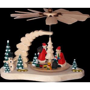 Teelichtpyramide mittel mit Weihnachtsmann