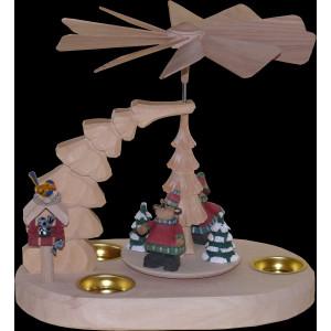 Tischpyramide mit Elchen natur