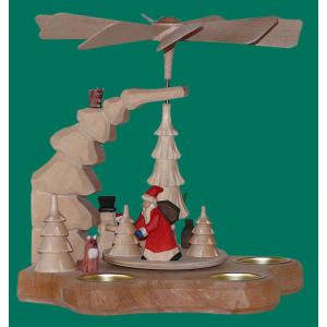 Wandpyramide mit Weihnachtsmann