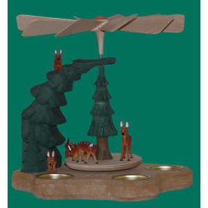 Wandpyramide mit Rehen bunt