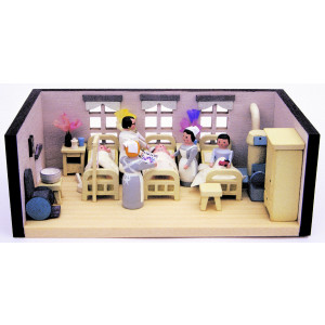 Miniaturstube Krankenstube BxHxT 11x4x6 cm NEU