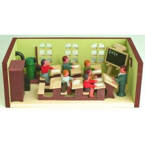 Miniaturstube Klassenzimmer mit Lehrer BxHxT 11x4x6 cm NEU