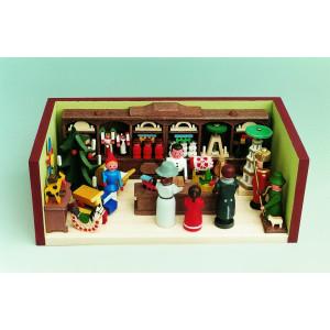 Miniaturstube Spielzeugland BxHxT 11x4x6 cm NEU