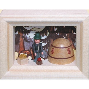 Weihnachtsdekoration Miniaturrahmen Glasbläser BxH 5,5x7 cm NEU