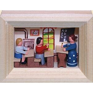 Weihnachtsdekoration Miniaturrahmen Schule BxH 5,5x7 cm NEU