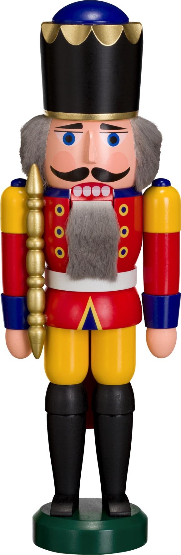 Weihnachtsdekoration Nußknacker König rot-gelb HxBxT = 29x10x8cm NEU
