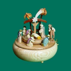 Spieldose Christi Geburt farbig