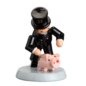 Tischdekoration Glücksbringer Essenkehrer mit Schwein H= 7cm NEU