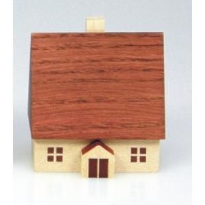 Haus 4 cm Winterhaus Holzhaus Weihnachten Tischschmuck Deko 204/18/1 HN