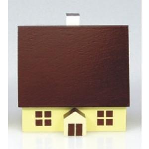 Haus 5 cm bunt Weihnachtshaus Holzhaus Innenbeleutung Tischschmuck 204/127/1 HB
