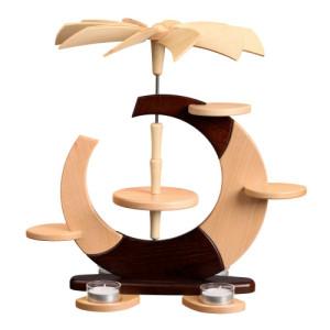 Designpyramide ohne Bestückung mit Teelichter HxLxB 36x35x27cm NEU