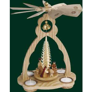 Glockenpyramide Christi Geburt Pyramide Volkskunst Teelicht NEU Erzgebirge 15820