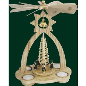 Glockenpyramide mit Kurrende Pyramide Volkskunst Teelicht NEU Erzgebirge 15822