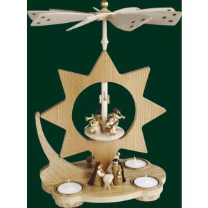 Tischpyramide Christi Geburt Pyramide Volkskunst Teelicht Erzgebirge NEU 15801