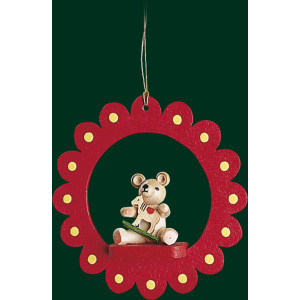 Christbaumschmuck Blüte und Teddy mit Pferd Baumbehang Weihnachtsbaum NEU 13421