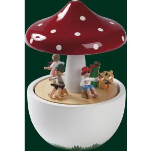Spieluhr Spieldose Pilz Kinderkonzert 18er Spielwerk Seiffen Erzgebirge 08537