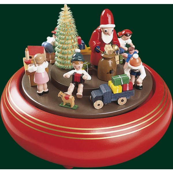 Spieluhr Spieldose Weihnachtsbescherung 18er Spielwerk Erzgebirge NEU 08307