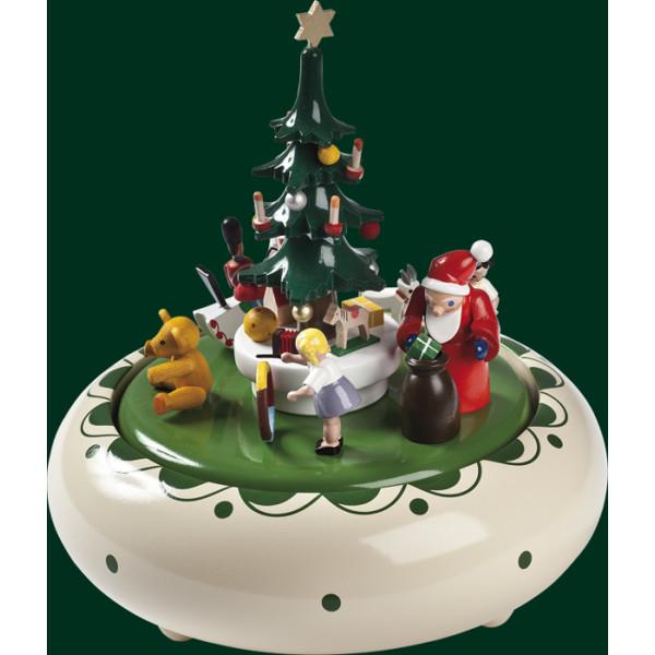 TOP Spieluhr Spieldose Weihnachtsbescherung 22er Spielwerk Erzgebirge NEU 08308