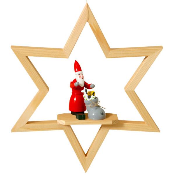 Fensterbild Weihnachtsmann im Stern
