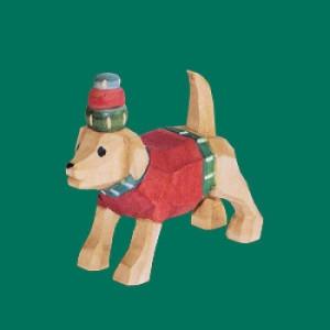 Hund für Förster geschnitzt 9 cm bunt Weihnachtsfigur NEU