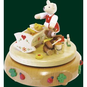 Spieluhr Spieldose Bärenwiege 12 cm NEU