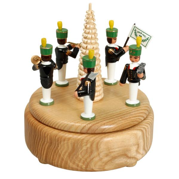 Weihnachtsdekoration Spieldose Bergmannsparade bunt BxHxT 13x15,5x13cm NEU