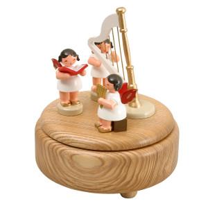 Weihnachtsdekoration Spieldose Engel mit Instrumente BxHxT 13x15x13 cm NEU