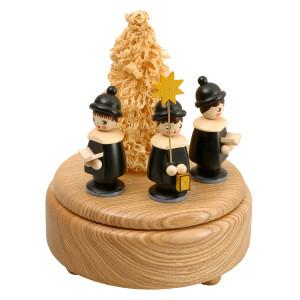 Weihnachtsdekoration Spieldose Kurrende bunt BxHxT 13x16x13 cm NEU