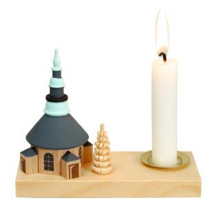 Kerzenhalter Seiffener Kirche 8,0 cm Kerzenleuchter Erzgebirge NEU