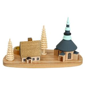Weihnachtsdekoration Kerzenhalter Seiffener Kirche Höhe 7,5 cm NEU