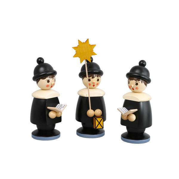 Weihnachtsdekoration 3 Kurrendefiguren schwarz Höhe 19cm NEU