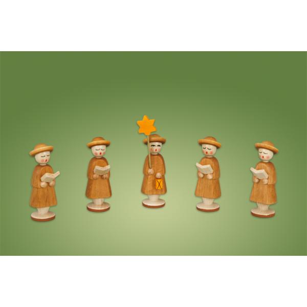 Weihnachtskrippe Krippe Kurrende Figuren 5 tlg Seiffen Erzgebirge NEU
