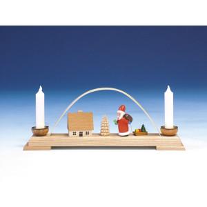 Fensterdekoration Schwibbogen Weihnachtmann bunt Länge 26 cm NEU