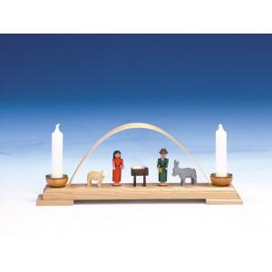 Fensterdekoration Schwibbogen Christi Geburt bunt Länge 26 cm NEU