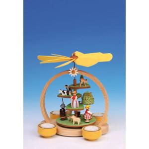 Tischpyramide Stufenpyramide Sommerwiese bunt Höhe 24 cm NEU