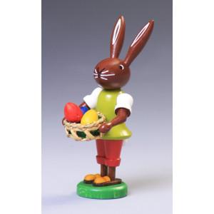 Osterfigur Hase mit Eier Höhe ca 9 cm NEU