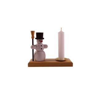 Kerzenhalter Schneemann 9 cm Kerzenständer Leuchter Erzgebirge NEU
