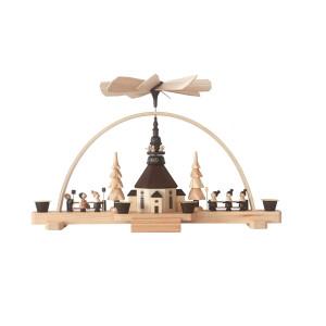 Schwibbogenpyramide Breite 38 cm, Höhe 25 cm Leuchterbogen Erzgebirge NEU