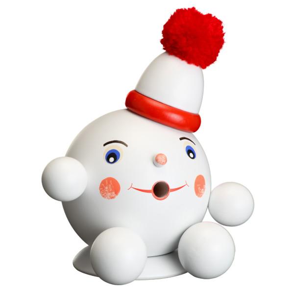 Räucherfigur Räucherschneeball rot BxHxT ca 13 x 14 x 10cm NEU