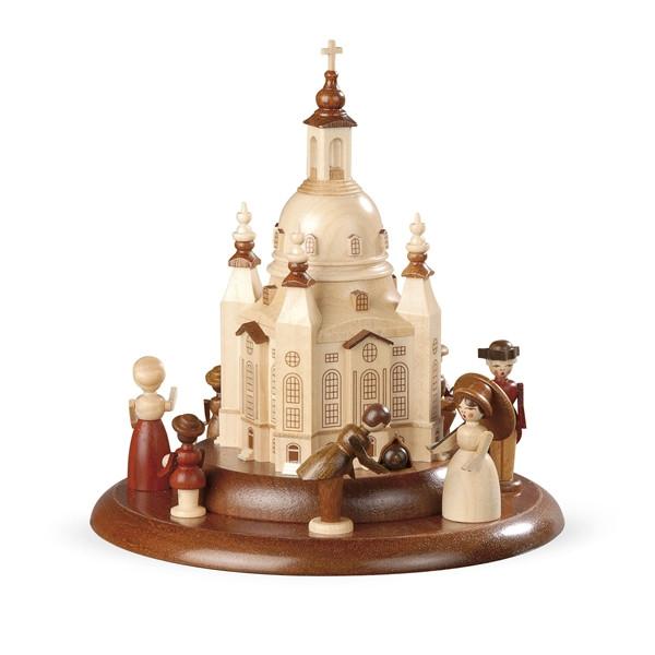 """Spieluhr Motivplattform für elektrische Spieldosen """"Historische Figuren an der Frauenkirche"""" Ø:15cm NEU"""