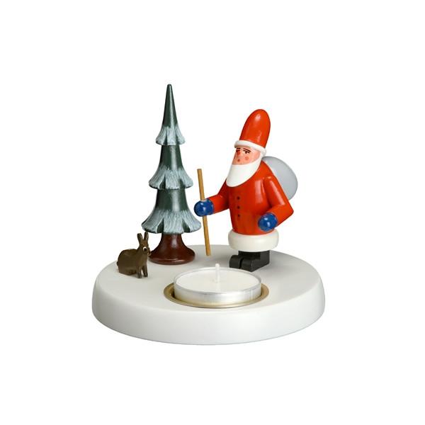 Kerzenhalter Weihnachtsmann Höhe ca. 10cm NEU