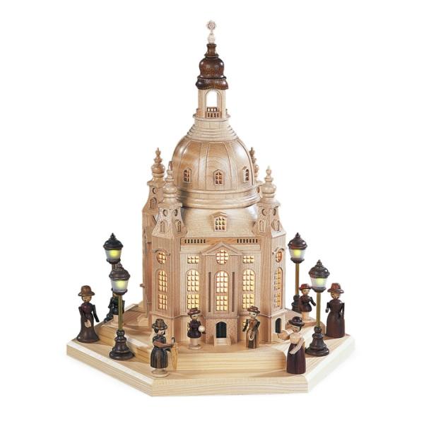 Lichterhaus Frauenkirche Dresden groß mit Innenbeleuchtung inkl. Trafo (230V) (LxBxH):24x21x28cm NEU