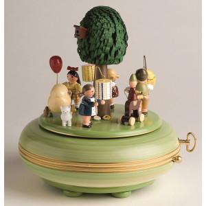 Spieldose groß – Lampionfest Melodie: Blumenwalzer / 28er Werk 18 cm NEU