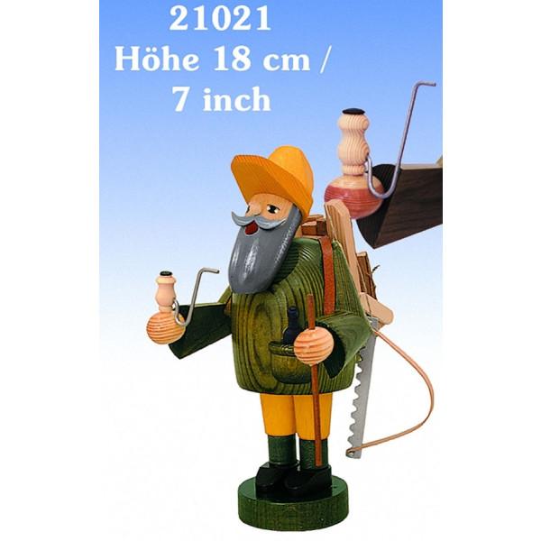 Räucherfigur Waldarbeiter 18 cm NEU