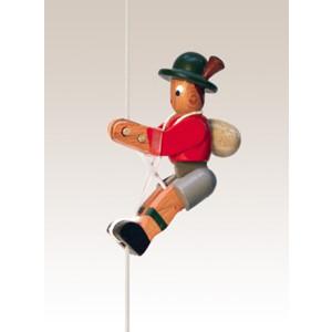 Kletterfigur Bergsteiger, Jacke rot Weißes Kletterseil , Länge ca. 45 cmHöhe der Figur ca. 6,5 cm NEU