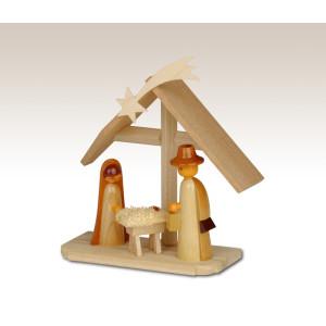 Miniaturen Christi Geburt auf Sockel, natur 9,5cm NEU