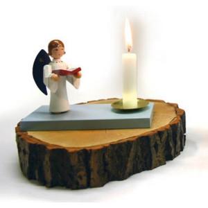 Kerzenhalter Engel mit Buch, Kerzenhalter Höhe 8 cm NEU