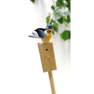 Vogel Singvogel Blaumeise Stab 53cm,Vogel 5cm NEU