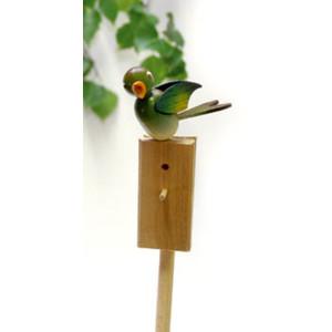 Vogel Singvogel Grünfink Stab 54cm,Vogel 5cm NEU
