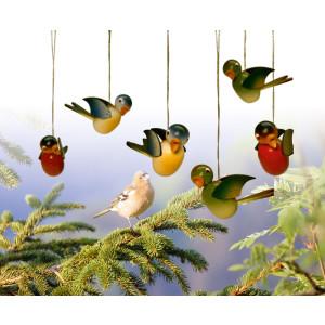 Baumbehang Vogel hängend Blaumeise, einzeln 5cm NEU